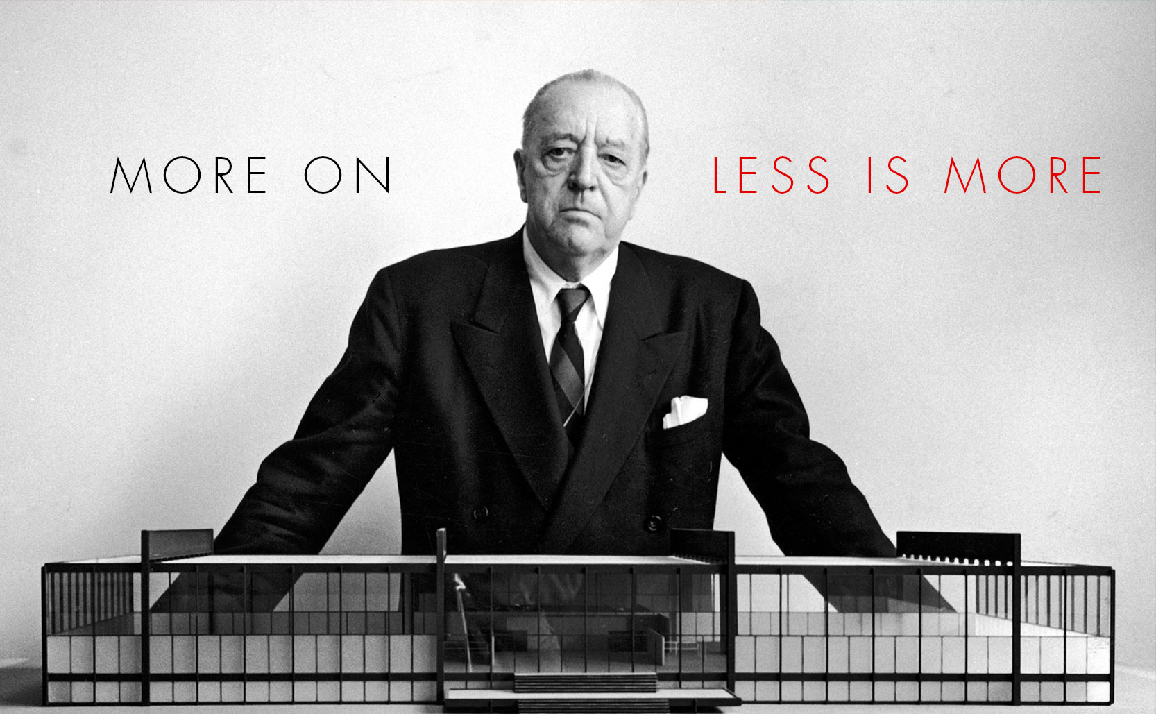 """More on """"Less is more"""""""